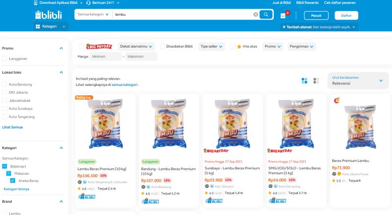 Rekomendasi Beras Premium
